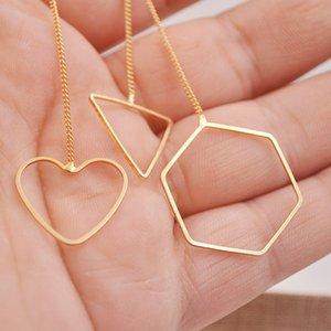 Nova Moda Brincos Moda Simples Geométrica Longa Linha de Orelha Poligonal Triângulo Amor Brincos