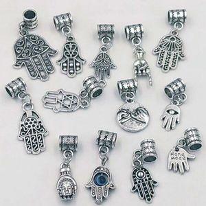 Ожерелье кулон 130 шт. / лот сглаза Хамса Фатима рука подвески кулон NecklaceBracelets ювелирные изделия аксессуары мода подарок делая A35