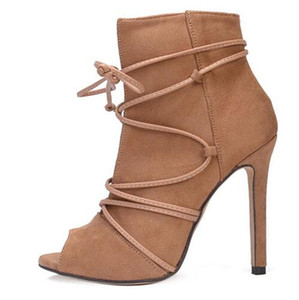 Fashion 11cm Thin High-heeled Shoes Sexy Women Pumps Lace Up Women's Shoes Super High Heels Women Shoes Hollow Best