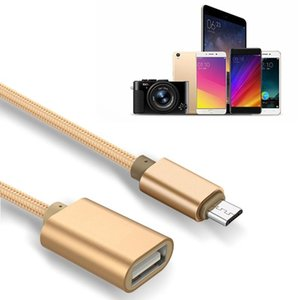 New Micro-Usb Male To USB Cable Adapter OTG Data Sync Cable