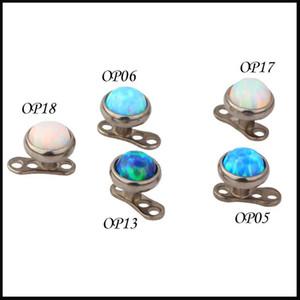 100% di titanio G23 Piercing pietra opalina Top Dermal Anchor gioielli piercing allegati-jewelley Micro Dermal Skin Diver