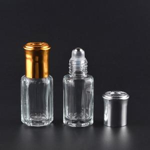 3 ملليلتر 6 ملليلتر زجاج زجاجات السفر الضروري النفط 10 ملليلتر 12 ملليلتر الخالي لفة على زجاجة عطر إعادة الملء الصلب الرول الكرة الحاويات 30 قطع