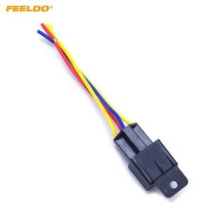FEELDO 자동차 자동차 - 핀 12VDC 40 / 30A 상시 폐쇄 릴레이 컨트롤러 (와이어 하네스 어댑터 포함) # 3883