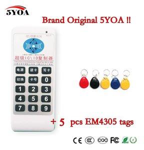 5YOA Handheld 125Khz-13,56MHZ accesso di frequenza ID RFID Lettore duplicatore di schede IC Scrivi copiatrice + 5pcs 125KHZ EM4305 tags