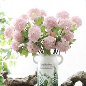 Fiore artificiale 2 palline di neve di alta qualità Falso decorazione della casa Hydrangea Wholesale all'ingrosso