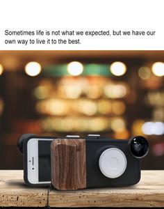 RK23 para iPhone 8 7 6S 6 Selfie 9 niveles de brillo Beauty Fill Light funda para teléfono con lente gran angular + macro + ojo de pez con buena