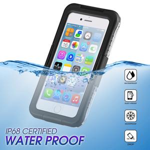 caja del teléfono a prueba de agua para el iPhone 6 7 8 Plus X iPhone vida a prueba de polvo Carcasa submarina fotos de piel para Samsung Galaxy S7 S8 Plus