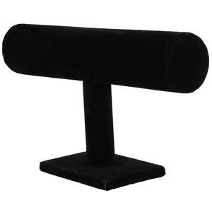 Stand Bracciale Catena Bangle Watch T-bar Rack Holder Display gioielli nero