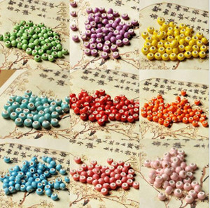 1000 pack 6mm Beads Shining Ceramics Round Loose Beads Pick Colour For jewelry findings loose spacer beads charms kit bracelet diy