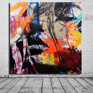 Бэнксите Colorful Abstract David Bowie высокого качества расписанной HD Печатного искусство стены картина масло декор дом на холст несколько Размеры G138