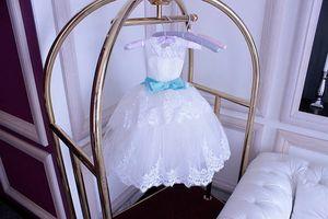 New Flower Girl Dress Little Girl Princess Lace with Sash Bridesmaid For Formal Wedding Occasion Wish Sash Princess Bow Brithday F5