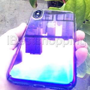 Etui Aurora Gradient Color Transparent Pour iphone XS MAX Xr 8 7 6 plus Samsung Note 8 9 S8 S9 Plus A8 A5 A530 PLUS J8 2018