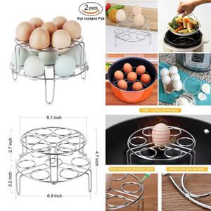 2 pçs / set Ovo Steamer Rack Fogão de Ovo Empilhável Steamer Rack Trivet para Instant Pot Pan e Panela de Pressão por atacado BBA238