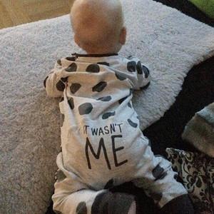 Autunno 2018 New baby pagliaccetto a maniche lunghe Dot Neonato tuta neonati maschi vestiti abbigliamento infantile