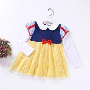 Détail fille princesse robe blanche neige Cartoon Halloween Performance robe à manches longues + manteau vêtements pour enfants 2-6 ans L691