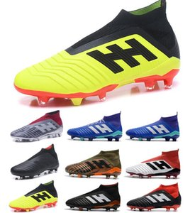 2018 Yeni Çocuklar Erkek Kadın Predator 18 FG Futbol Cleats Çocuk Futbol Boots En İyi Satış Erkek Futbol Boots Gençlik Futbol ayakkabı