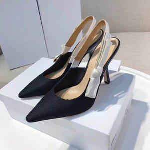 Designer Frauen hohe Absätze 9.5cm Sandalen hochwertige Pumpen Slingpumps 6 Farben Damen Lackleder Kleid einzelne Schuhe
