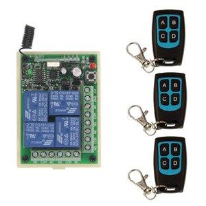 DC 12V 24V 4 CH 4CH RF Wireless Remote Control Light Motor Switch System, trasmettitore impermeabile + ricevitore, momentaneo