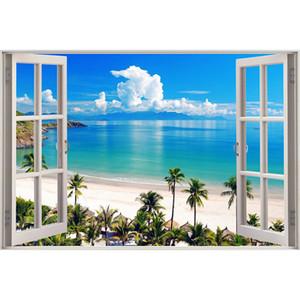 """Kexinzu полный квадратный круглый дрель 5D DIY Алмаз живопись """"окно пляж морские пейзажи"""" 3D Вышивка Крестом мозаика Home Decor"""