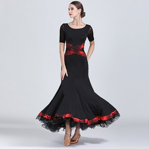 black competition ballroom dress woman ballroom dancewear clothes spanish flamenco wear viennese waltz dress fringe tango dress dance wear