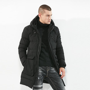 2018 Plus Size Warm Winter New Style Casual Jacket Solid Green Black Male Coat Man Jacket Fashion Warm Men Parkas Size M-3XL