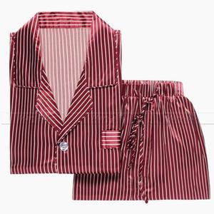 Mens Silk Satin Pyjama Pyjama Pyjama PJS Nachtwäsche Set Loungewear USM, L, XL, XXL, 3XL
