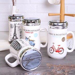 Heißer Verkauf Keramik Tassen Kreative Design Eiffelturm Becher Anti Verbrühen Kaffeetasse Drink Geschenk Gute Qualität 7xh dd