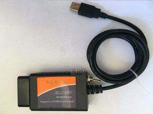 ELM327 interfaz RS232 plástico 327 USB OBD2 COM El ELM USB RS232 ELM327 OBDII OBDII Con Mejor Calidad Skudu