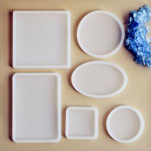 Quadrado Rodada Oval retângulo Scrapbooking Molde de Silicone para jóias Resina Silicone Mold artesanal DIY resina epóxi moldes de fundição