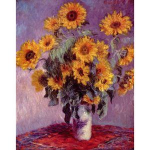 Ручная роспись пейзажи искусство букет подсолнухов Клод Моне картины маслом для домашнего декора