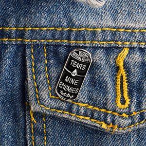 Miss Zoe Larmes de mines Ennemis Boîtes noires émail icônes Pins Badge Badge broche pour revers Denim PU veste Punk Dark Broches cadeau