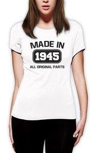 Женская футболка 71-й подарок на День Рождения Сделано в 1945 году все оригинальные части смешные женщины футболка смешные футболки женщин Битник хлопок повседневная топы Tee