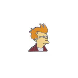 Denim Ceket Çanta Aksesuar iğneler Rozet Takı Yaka Pin için Karikatür Comics Futurama Fry Broş Emaye Pim