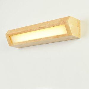 나무 벽 조명 욕실 거울 램프 나무 벽 램프 침대 라이트 북유럽 홈 조명 sconce 실내 조명 장식 도매 Dropship