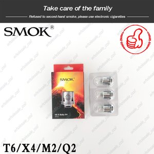 100% auténtico SMOK TFV8 repuesto Tanques Head Para TFV8 X-Baby X-Baby Coil Q2 0.4ohm M2 0.25ohm X4 T6 Dual Bobinas