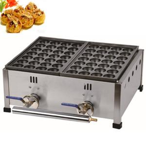 Gaz takoyaki ızgara ekipmanları ticari gaz takoyaki iki plakaları yapma makinesi Japon Tarzı Takoyaki yapımcısı makinesi