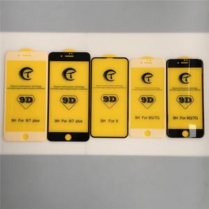 Pellicola proteggi schermo per iPhone X Xs Max 7 8 Plus 6s Custodia in vetro temperato 9D compatibile con colla completa Fast Fit scarico automatico