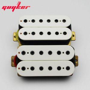 WHITE MATCHING HUMBUCKER GUITAR PICKUPS - HEX POLE - 픽업 세트