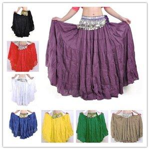 Bayan Bellydance 8 Yard Etek Belly Dancing Elbise Vogue Bohemia Etekler Çingene Maxi Etek Belly Dance Kostüm