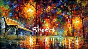 100% handgemaltes Messer Ölgemälde auf Leinwand Leonid Afremov Landschaft Leinwand Art-Deco-Ölgemälde schöne Kunstwerke Gemälde Dekoration