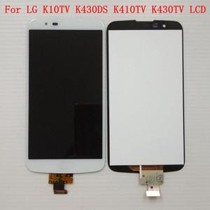 Para LG K10 TV K10TV K430TV K410TV Pantalla táctil digitalizadora negra / blanca + Pantalla LCD con IC en el ensamblaje de flexión (No para K10 LTE)