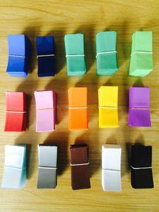 15 couleurs 18650 batterie PVC autocollant de peau manchon rétractable enveloppant manchon thermorétractable Re-wrapping pour piles