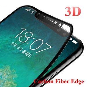 3D изогнутый край с покрытием из закаленного стекла для iPhone X 8 8Plus 7 7Plus 6 6 S 6Plus 6sPlus 9 H глянцевая защитная пленка