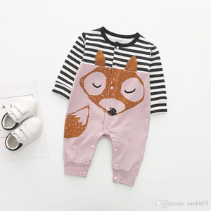 Spring Autumn Europe Infant Baby Cartoon Rompers Boys Girls Cotton Rompers Children Babies Onesies Long Sleeve Climb Clothes 4176
