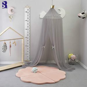Sunnyrain 10 طبقات تول سرير الستارة ناموسية خيمة الطفل الناموسيات سرير صافي جولة قبة الستارة 240 سنتيمتر الطول