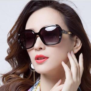 Kadın UV400 Yeni Güneş Gözlükleri Marka Tasarımcı Bayanlar Büyük Boy Kristal Güneş Yeni Kare Kadın Big Çerçeve Cam Güneş Gözlükleri