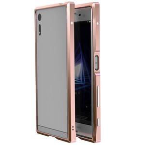 """소니 Xperia XZ 프리미엄 5.5 """"케이스 하이라이트 메탈 범퍼 케이스 커버 소니 Xperia XZ 프리미엄 5.5""""울트라 얇은 알루미늄 커버"""