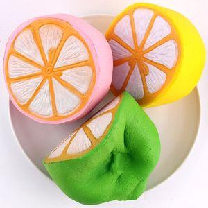 레몬 스퀴즈 장난감 느린 상승 핑크 옐로우 그린 스퀴즈 장난감 참신 항목 120pcs/lot T2I216