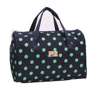Aosbos 여성 솔리드 방수 메이크업 가방 도트 베개 여행 주최자 가방 한국어 다기능 숙녀 대용량 화장품 가방