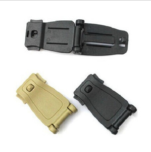 Practical Military Fixed Buckles Molle Strap Backpack Bag Webbing Connecting Buckle Clip Durable Outdoor EDC Tools Black 0 75bs B